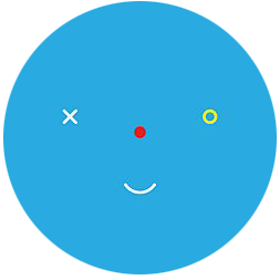 A gamerpic of a winking face