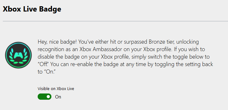 A screenshot of the opt-out process on the Xbox Ambassadors website.