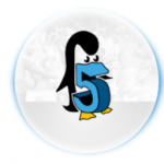 Avatar of the number five shaped like a penguin