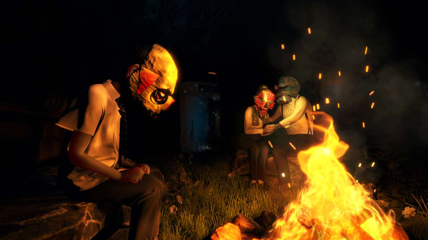 characters-with-masks-sitting-around-a-fire