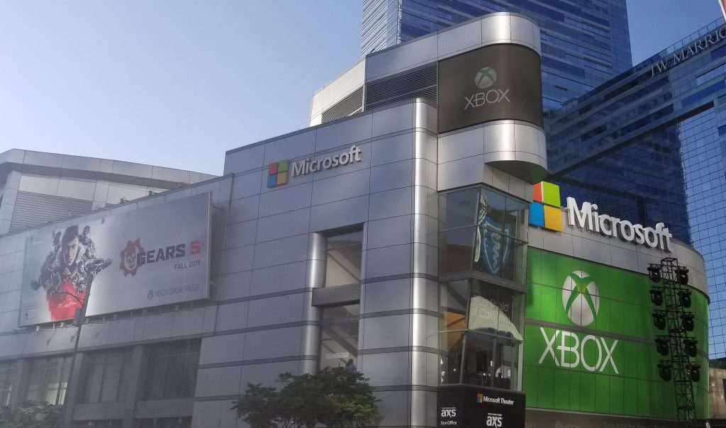 A photo depicting the Microsoft Theater.