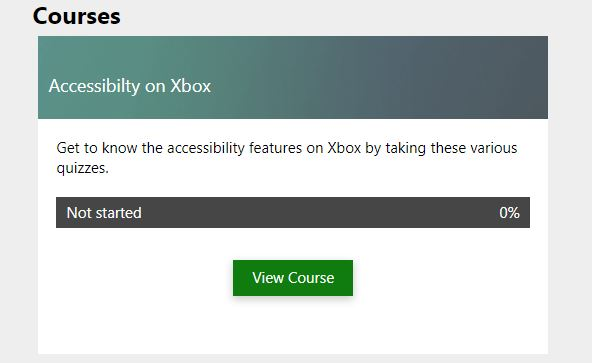 accessibility course in the academy