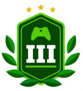 level-three-green-badge-with-controller-and-laurels